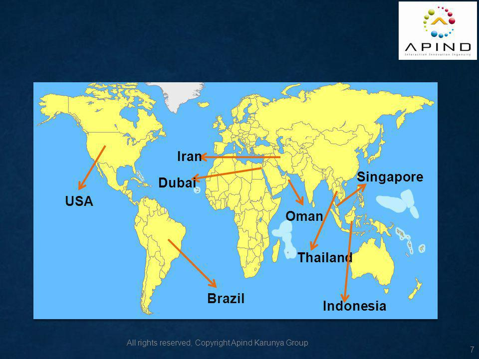 Iran Singapore Dubai USA Oman Thailand Brazil Indonesia