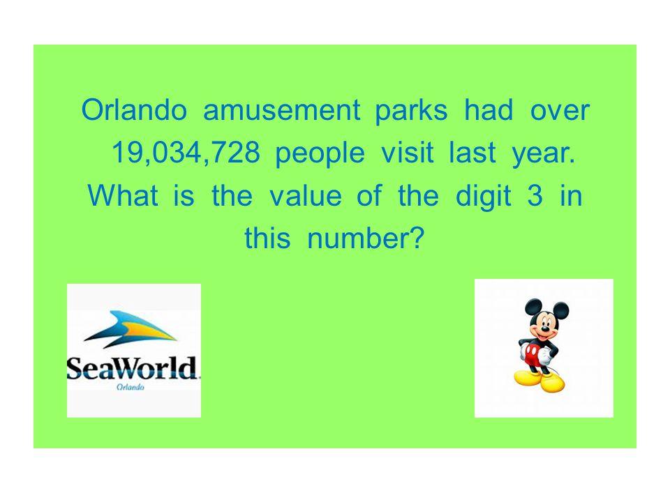 Orlando amusement parks had over 19,034,728 people visit last year