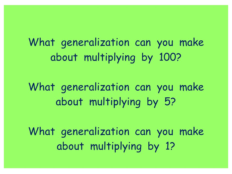 What generalization can you make