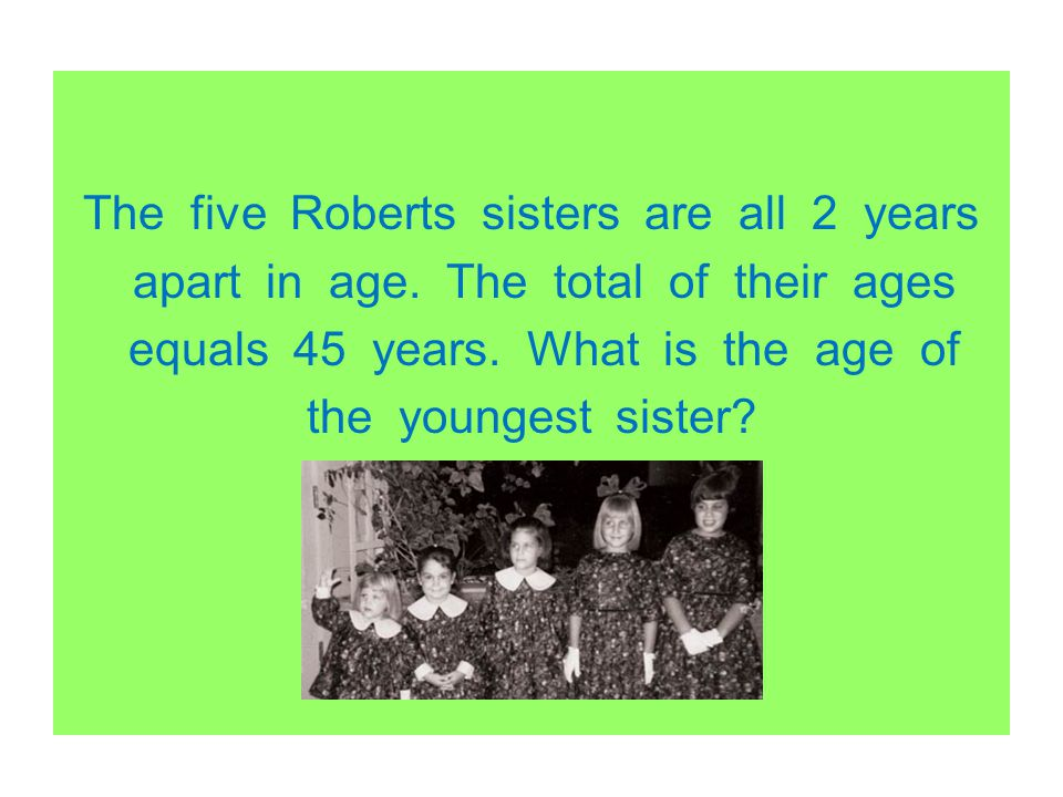 The five Roberts sisters are all 2 years apart in age