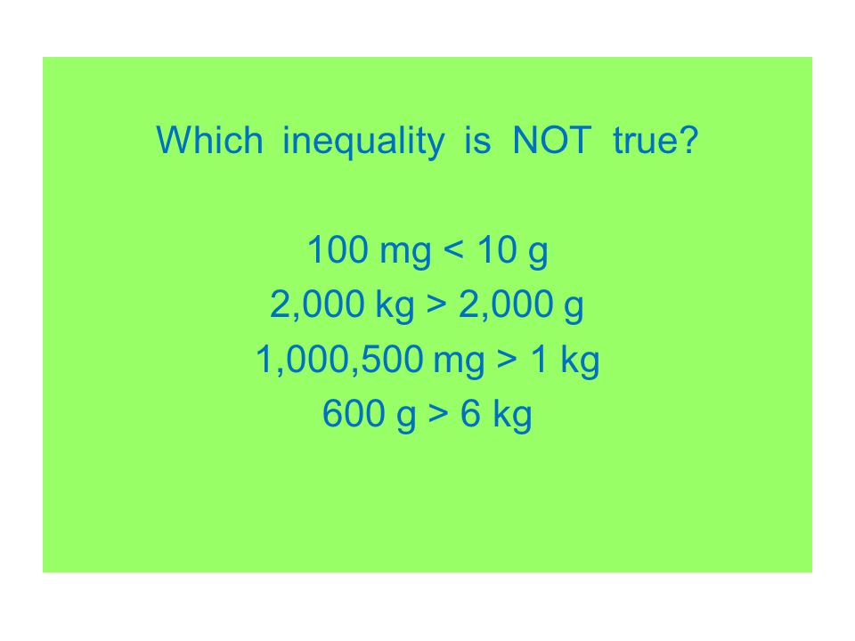 Which inequality is NOT true