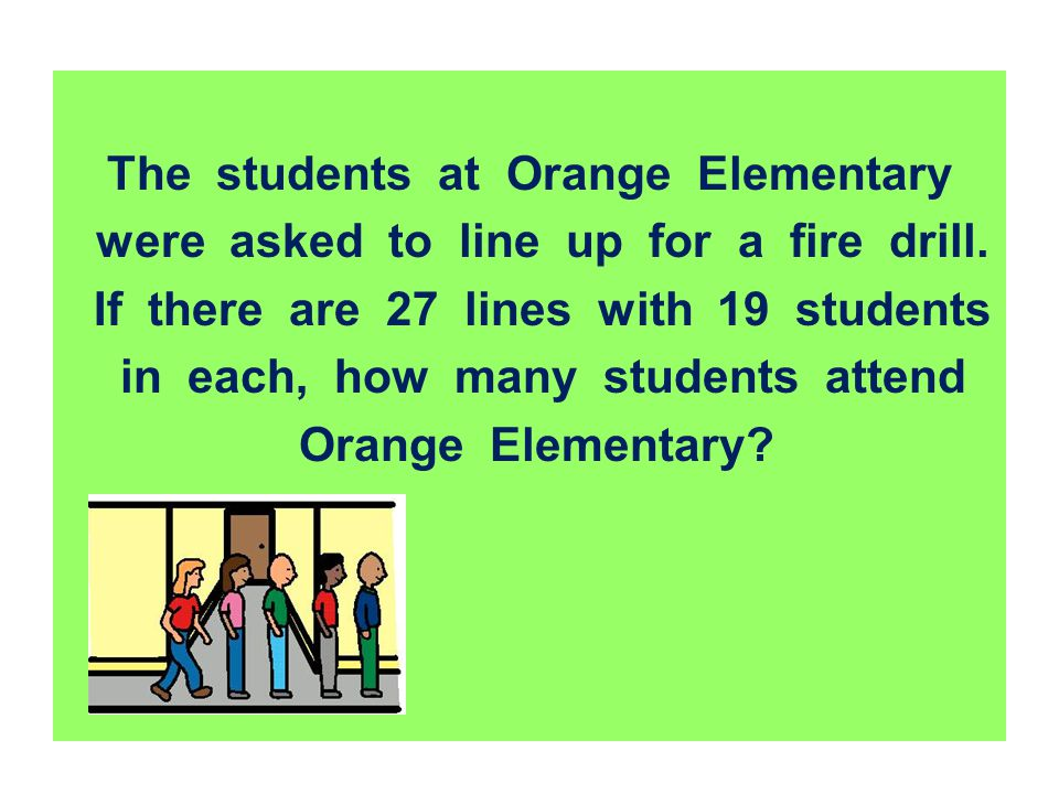 The students at Orange Elementary