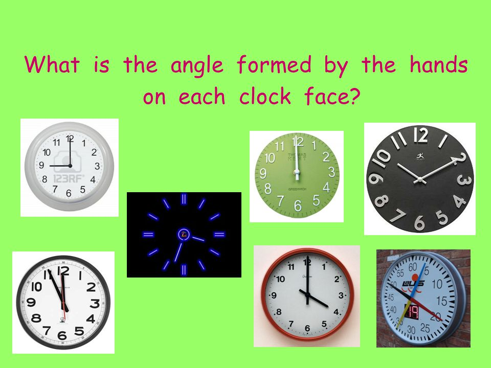 What is the angle formed by the hands