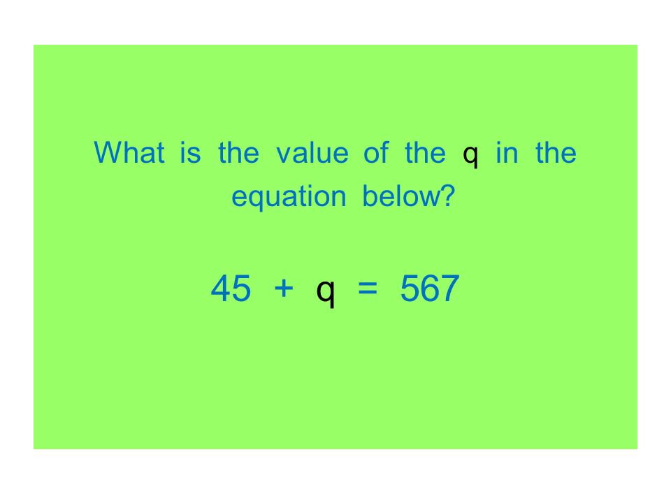 What is the value of the q in the