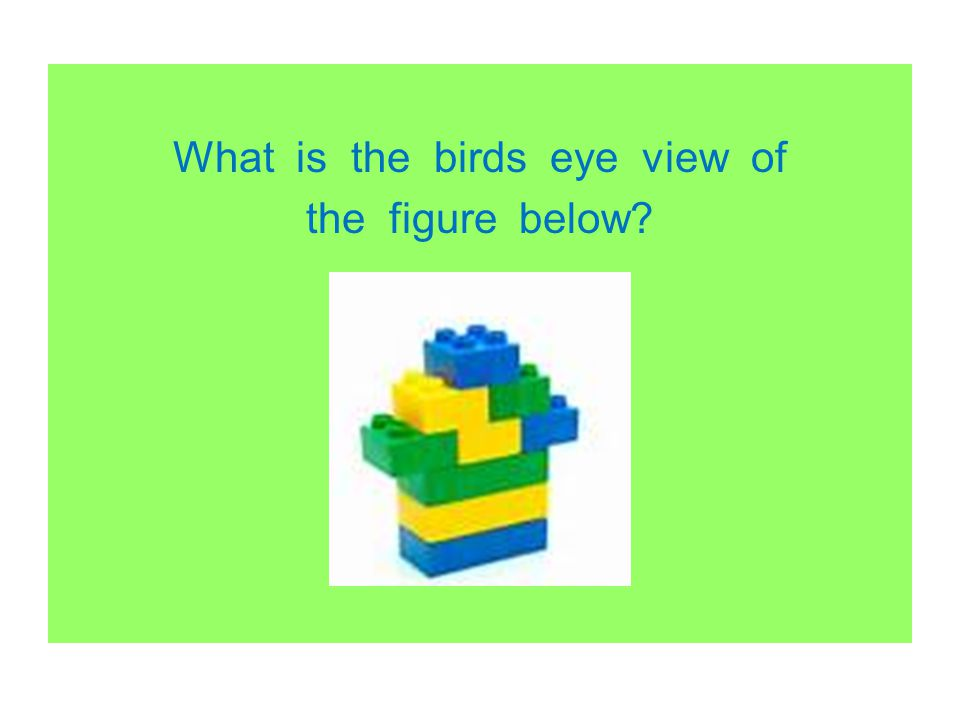 What is the birds eye view of the figure below