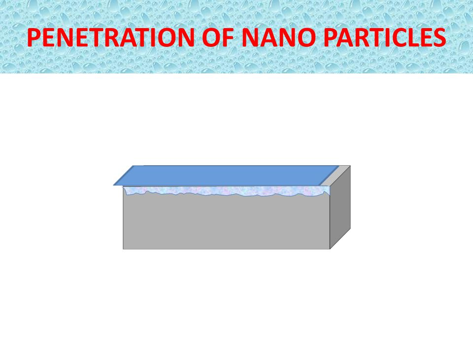 PENETRATION OF NANO PARTICLES