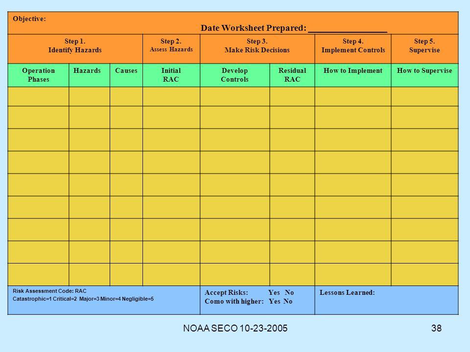 Date Worksheet Prepared: _________________