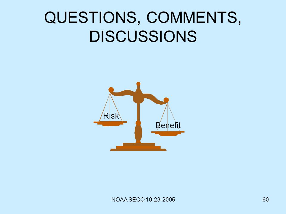 QUESTIONS, COMMENTS, DISCUSSIONS