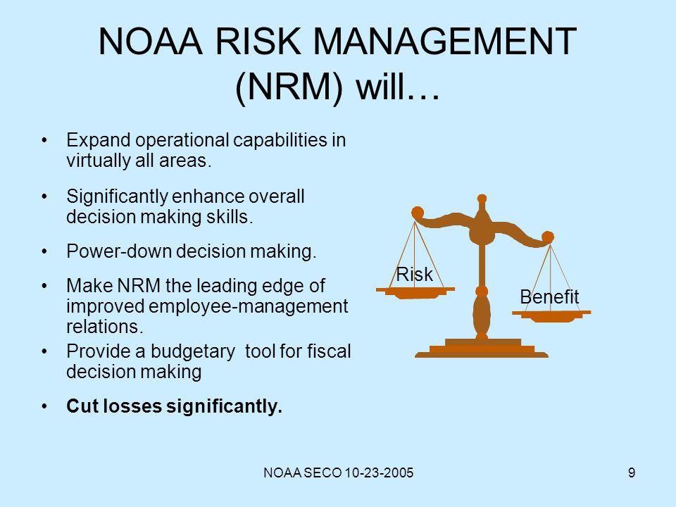 NOAA RISK MANAGEMENT (NRM) will…