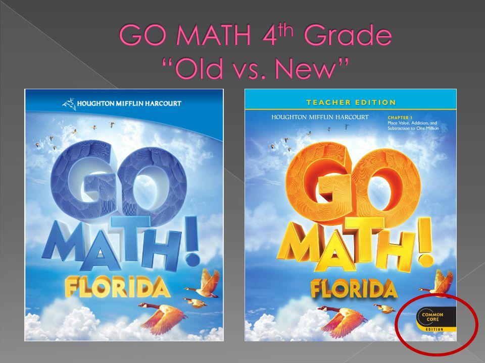 GO MATH 4th Grade Old vs. New