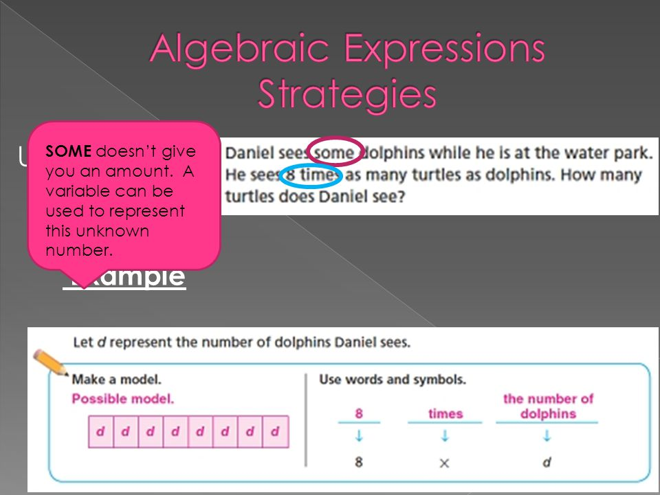 Algebraic Expressions Strategies
