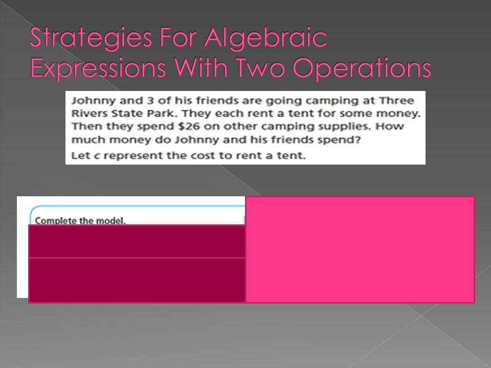 Strategies For Algebraic Expressions With Two Operations