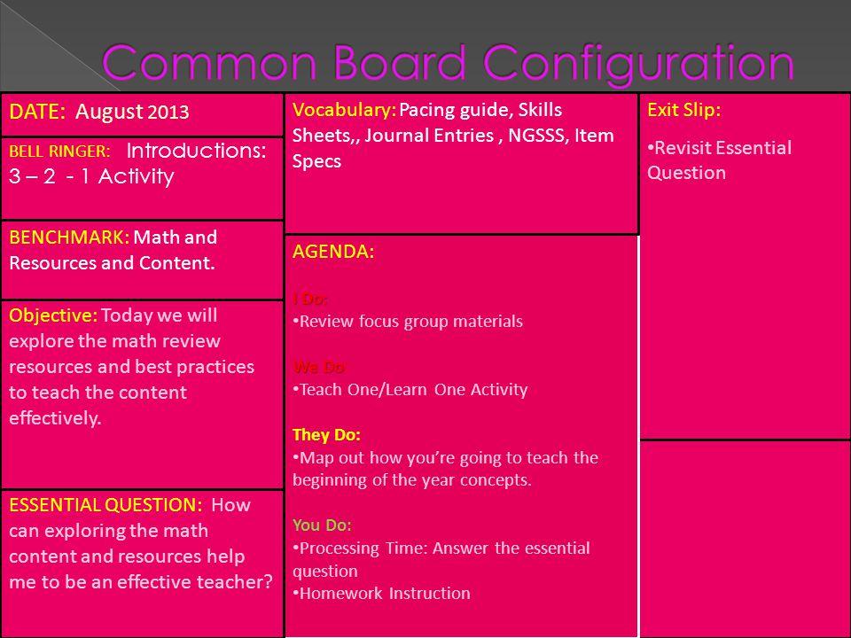 Common Board Configuration (CBC)