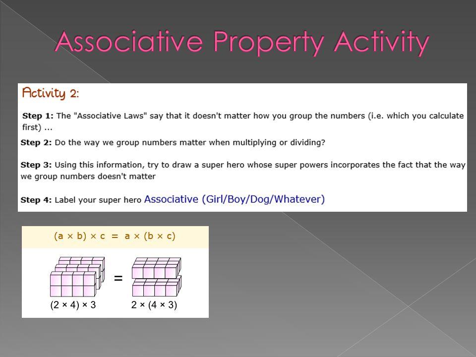 Associative Property Activity