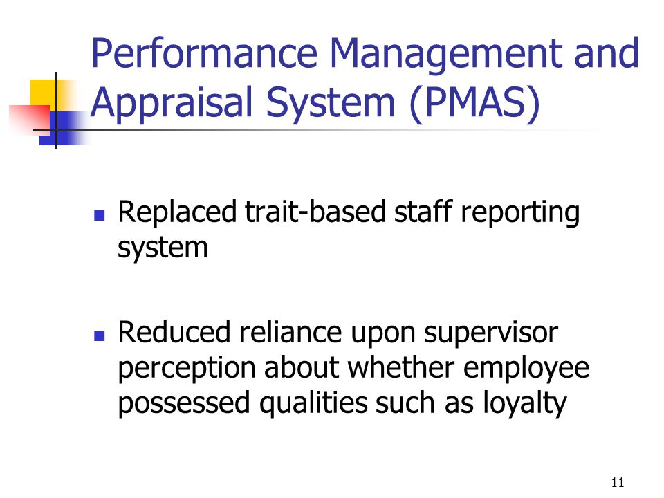 Performance Management and Appraisal System (PMAS)