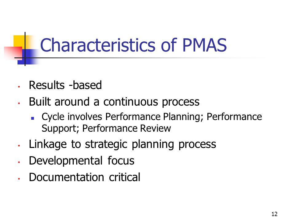 Characteristics of PMAS