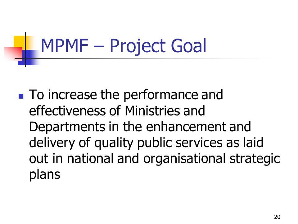 MPMF – Project Goal