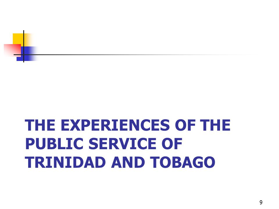 The experiences of the public service of trinidad and tobago