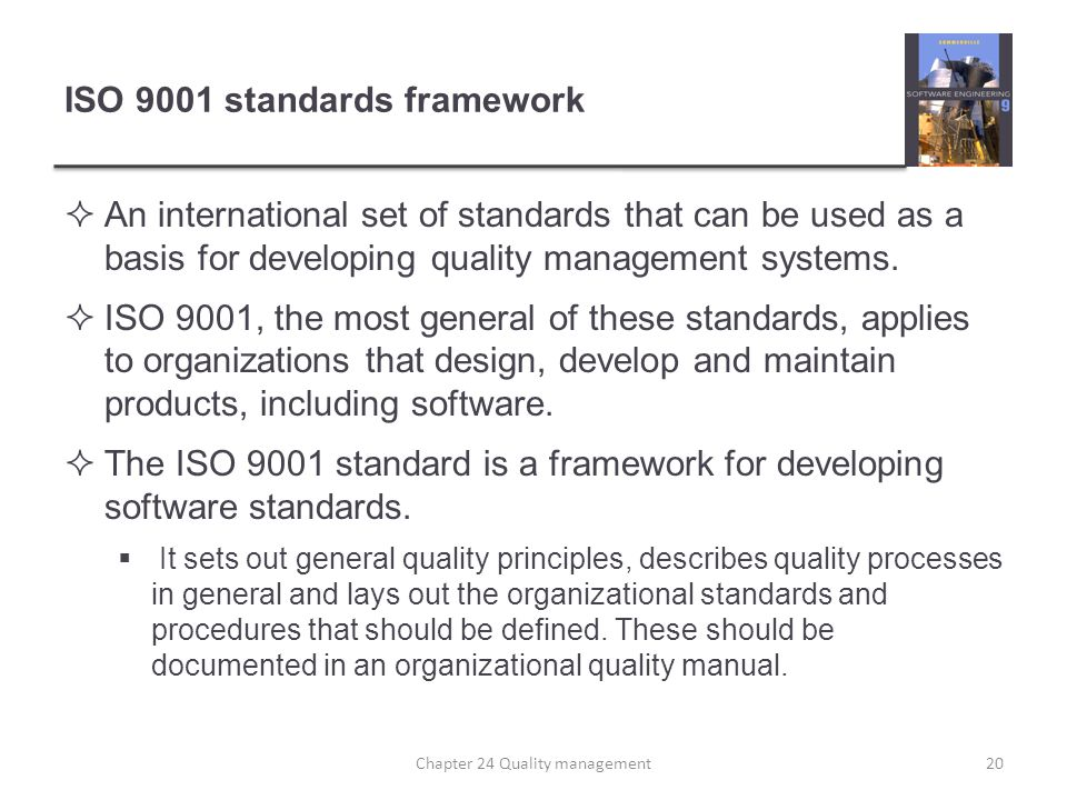 ISO 9001 standards framework