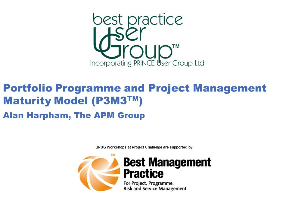 BPUG Workshops at Project Challenge are supported by: