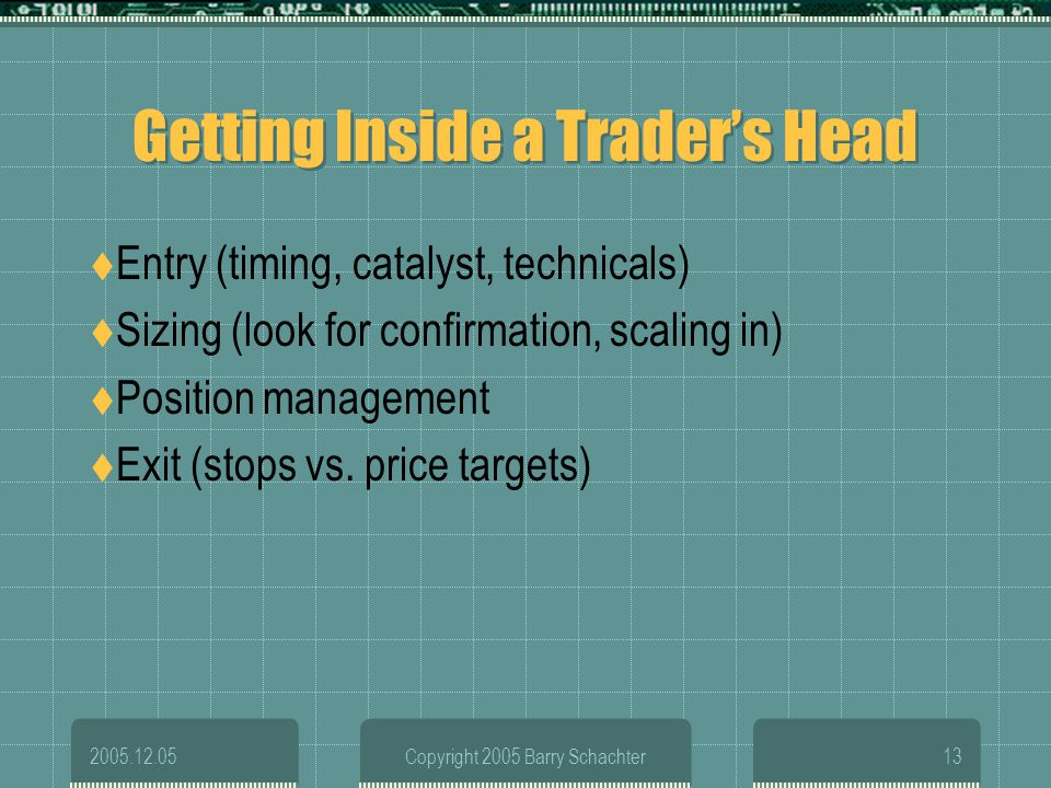 Getting Inside a Trader's Head