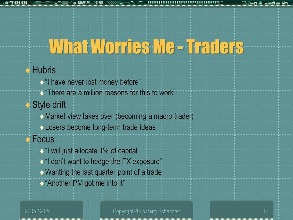 What Worries Me - Traders
