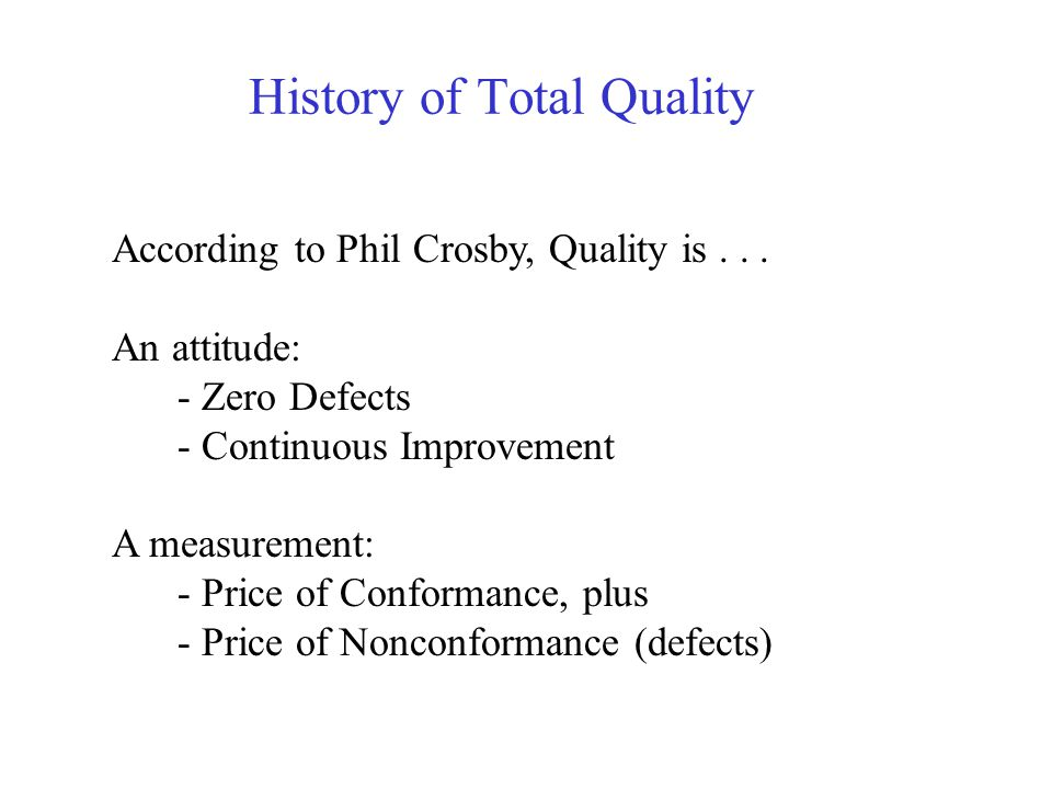 History of Total Quality