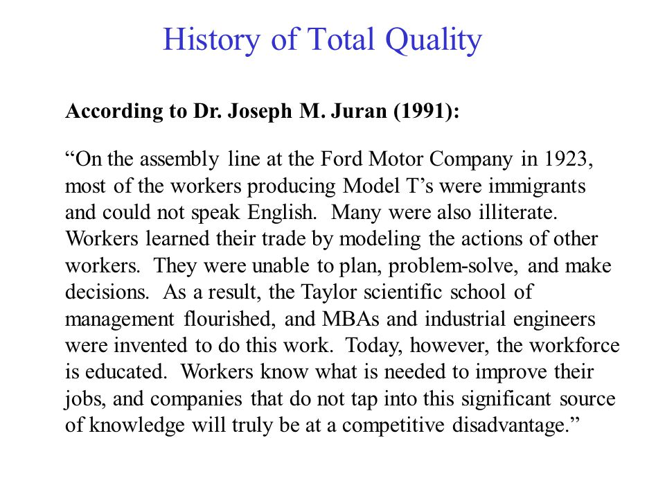 total quality management english