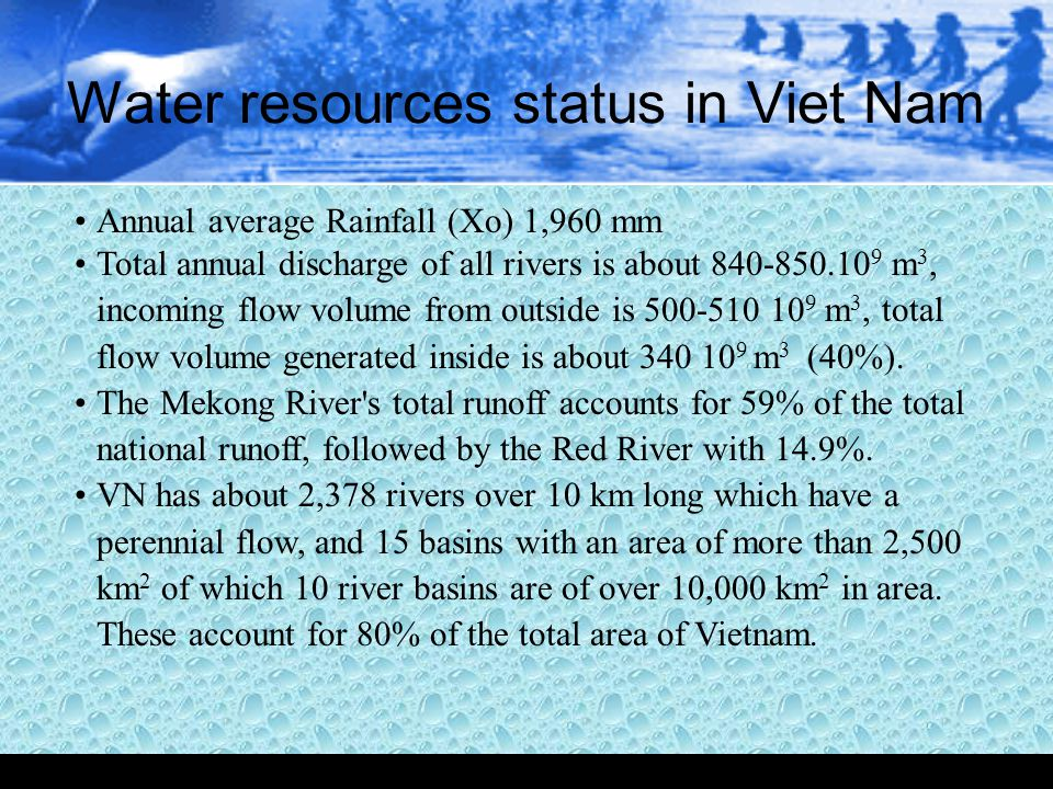 Water resources status in Viet Nam