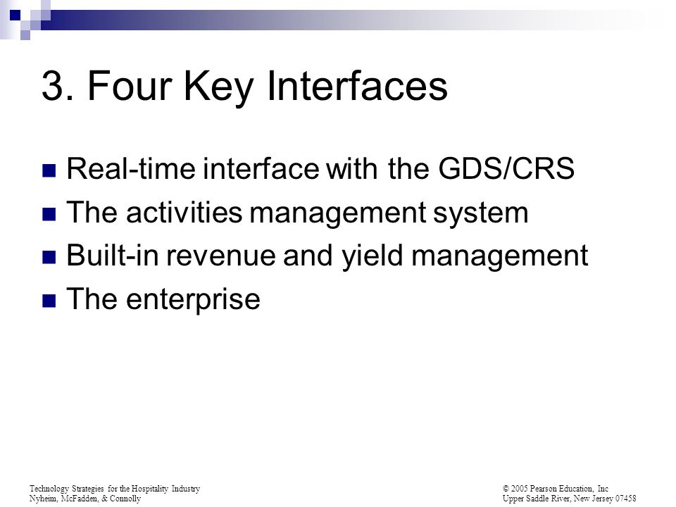 3. Four Key Interfaces Real-time interface with the GDS/CRS