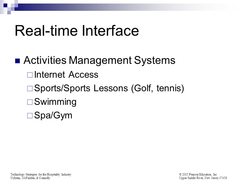 Real-time Interface Activities Management Systems Internet Access