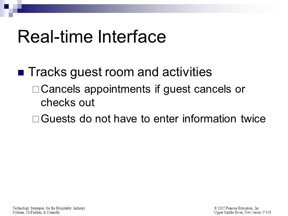 Real-time Interface Tracks guest room and activities