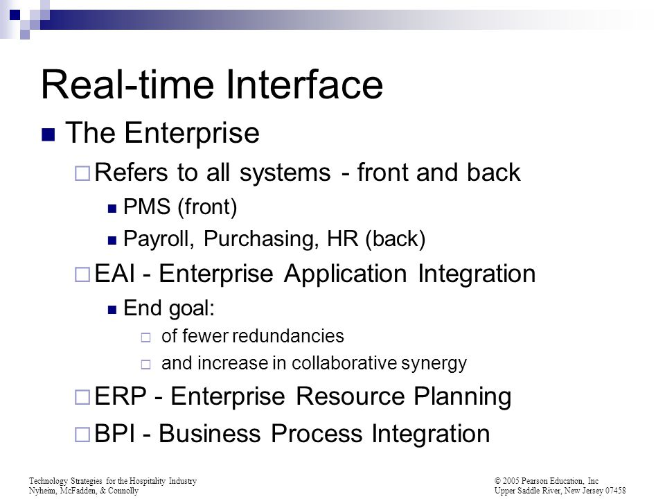 Real-time Interface The Enterprise
