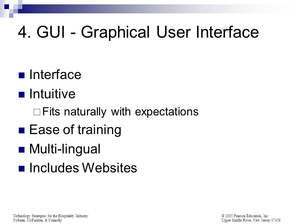 4. GUI - Graphical User Interface
