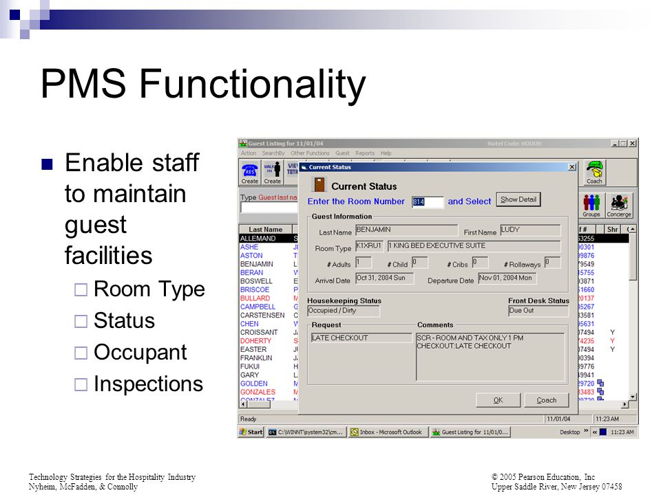 PMS Functionality Enable staff to maintain guest facilities Room Type