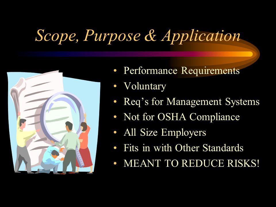 Scope, Purpose & Application