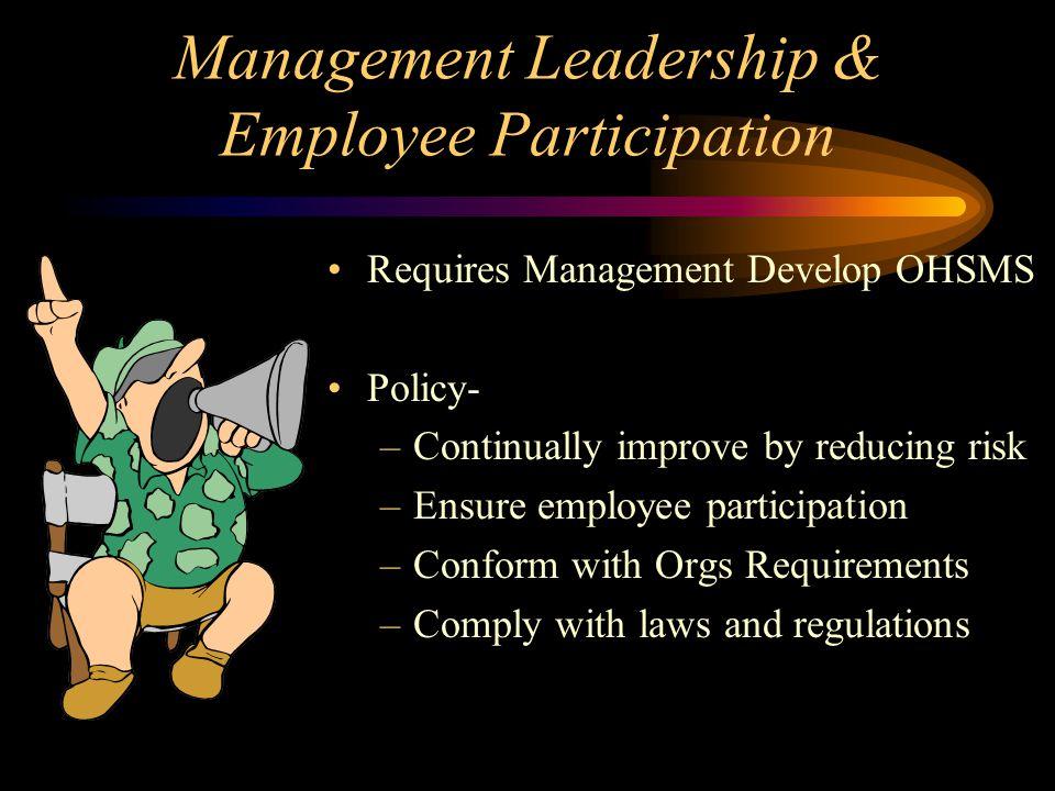 Management Leadership & Employee Participation