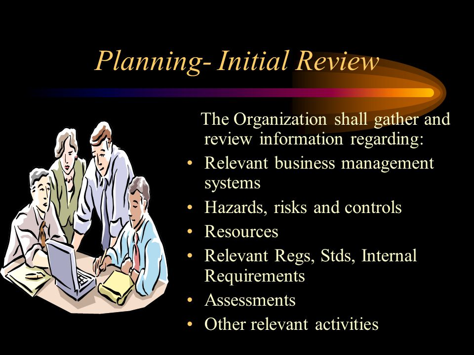 Planning- Initial Review