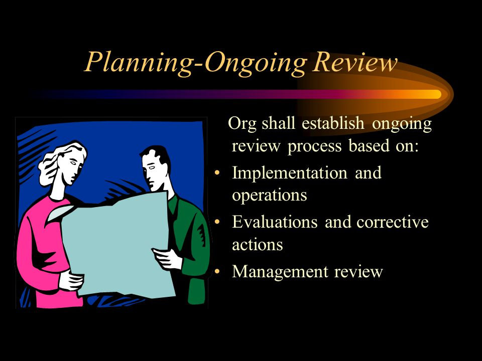 Planning-Ongoing Review