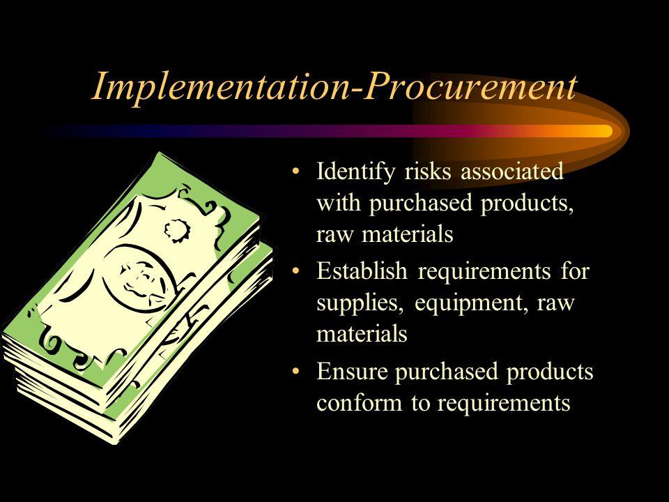 Implementation-Procurement