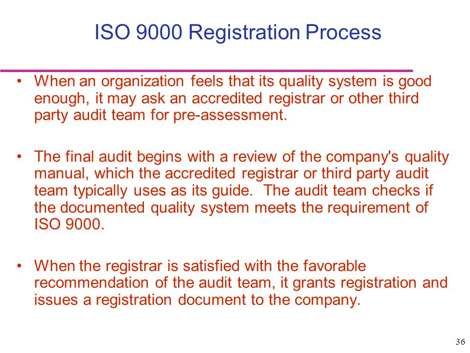 ISO 9000 Registration Process
