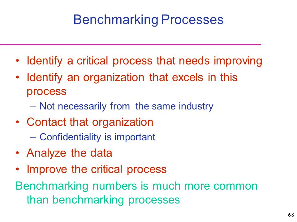 Benchmarking Processes