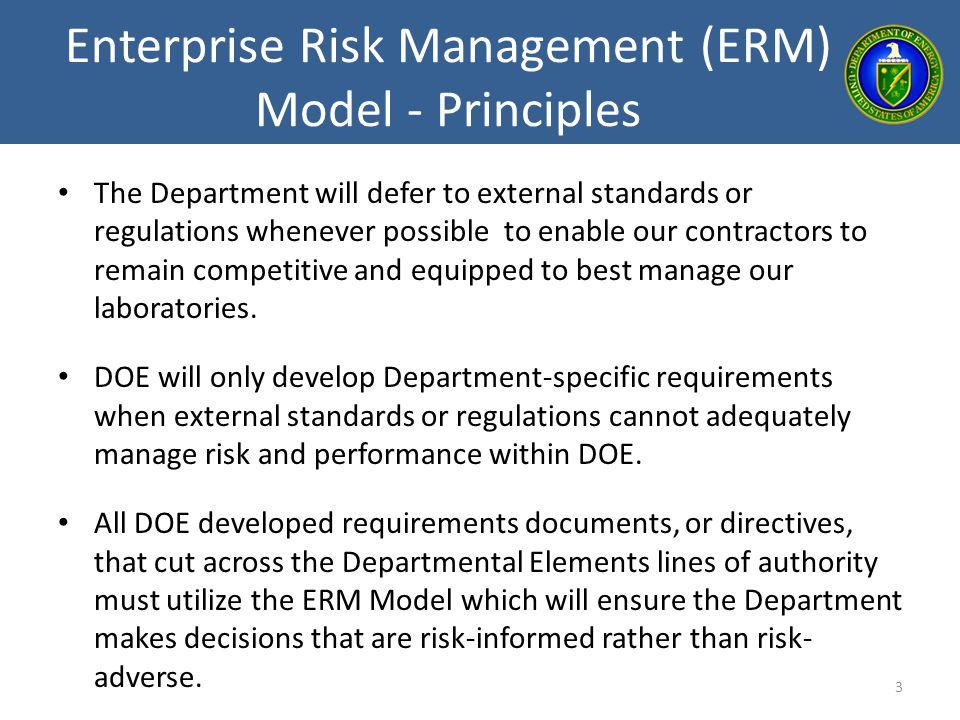 Enterprise Risk Management (ERM) Model - Principles