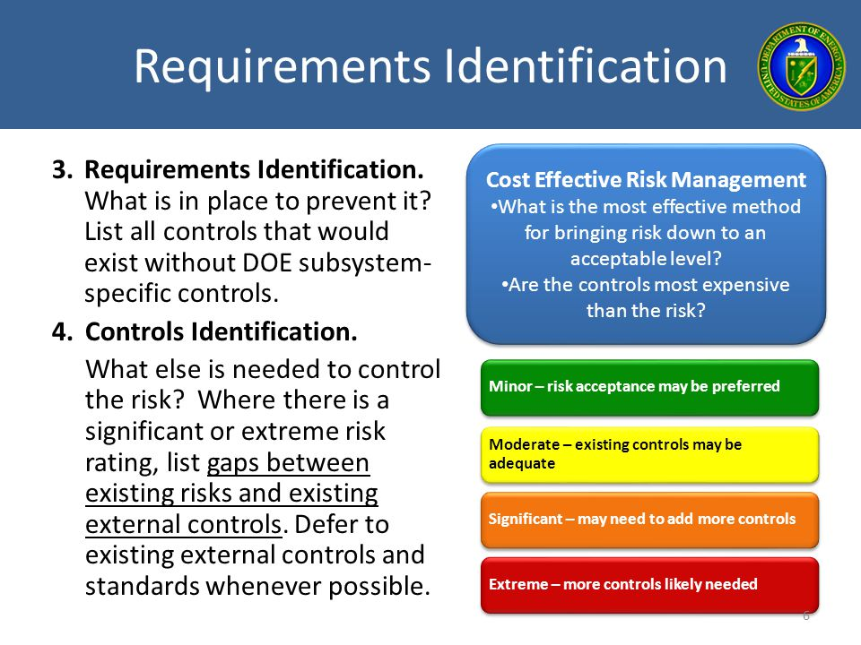 Requirements Identification
