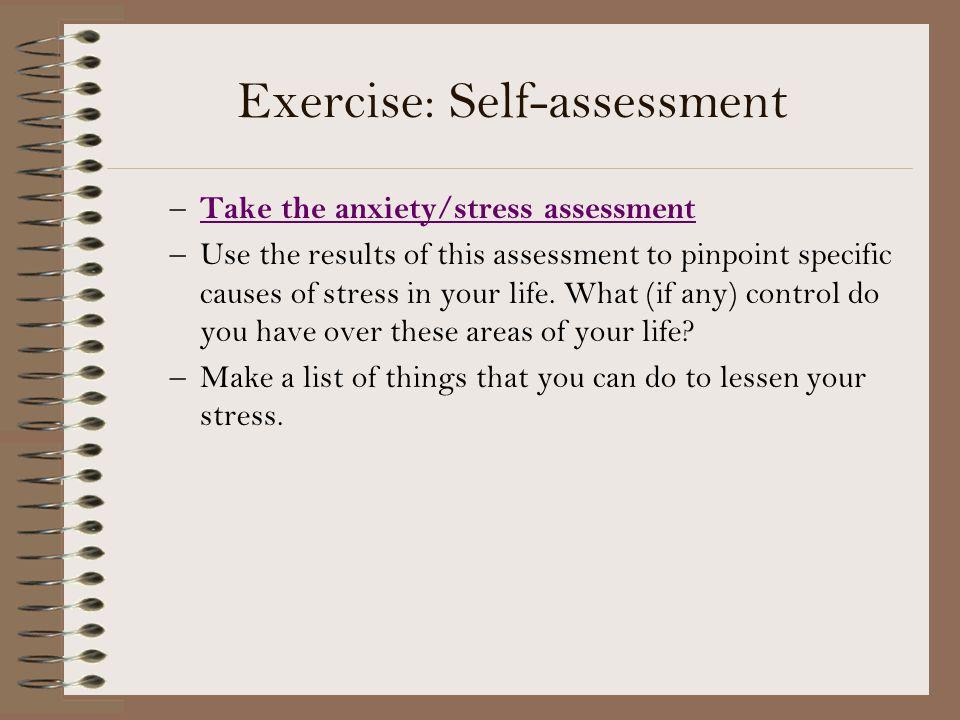 Exercise: Self-assessment