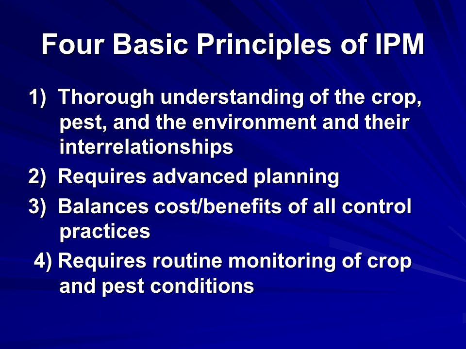 Four Basic Principles of IPM