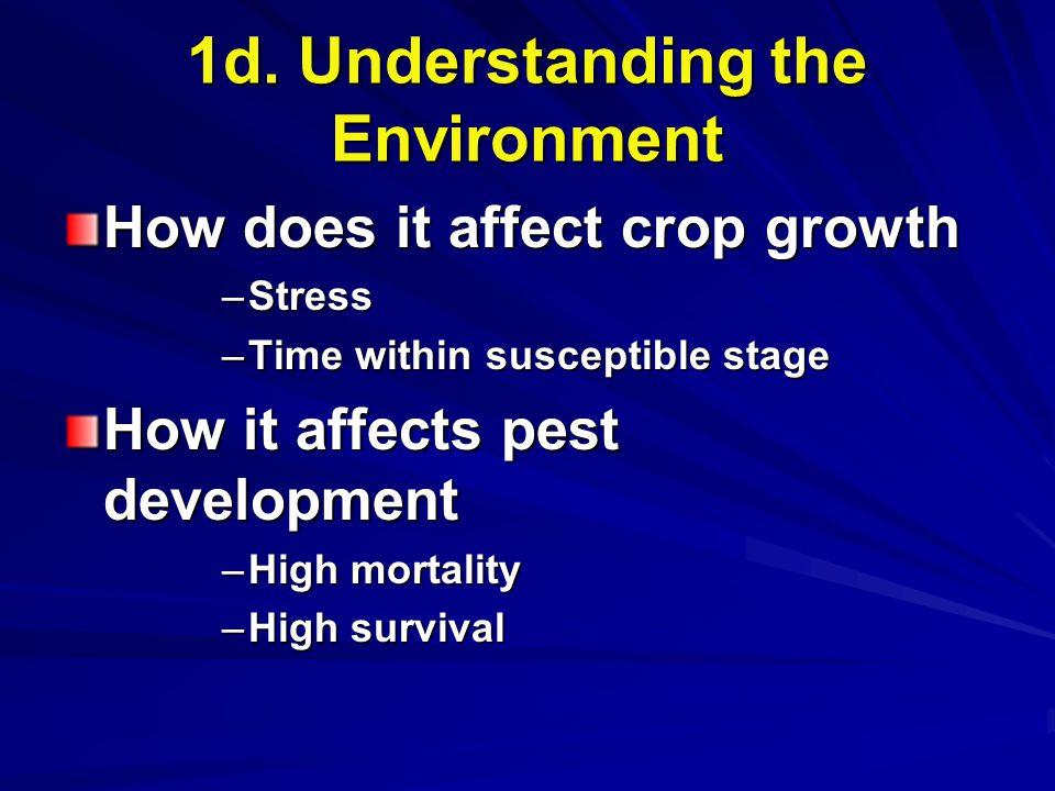 1d. Understanding the Environment
