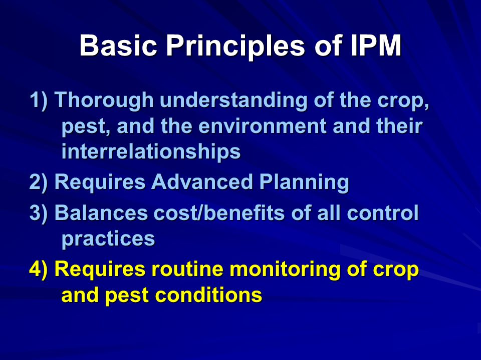 Basic Principles of IPM