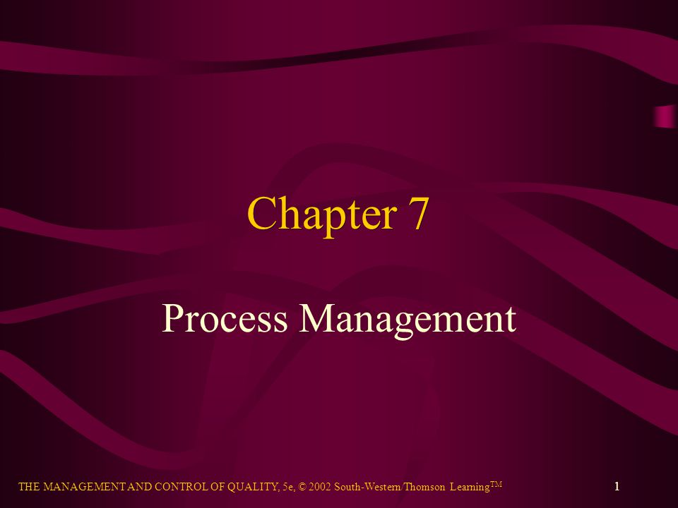 Chapter 7 Process Management