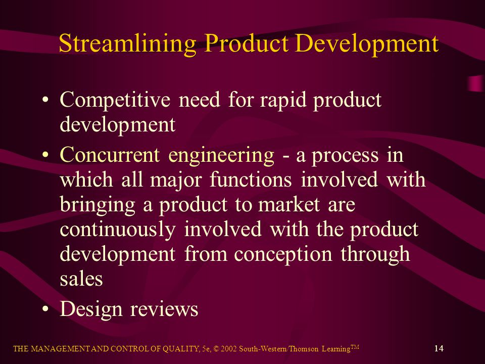 Streamlining Product Development